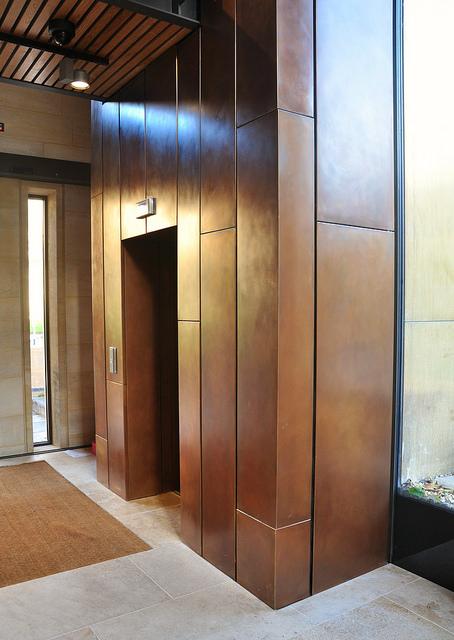 Brass Wall Cladding : Proteus hr composite honeycomb metal rainscreen cladding