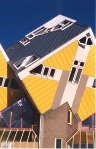 Zinc Roof at the Kubuswoningen, Rotterdam