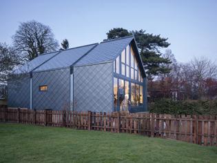 Zinc Shingles on the Amphibious House