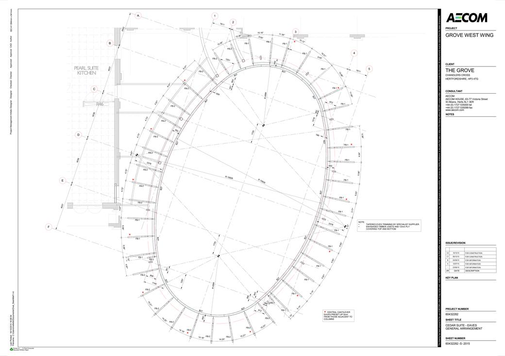 AECOM Drawing of pavilion showing Borromini Elipse