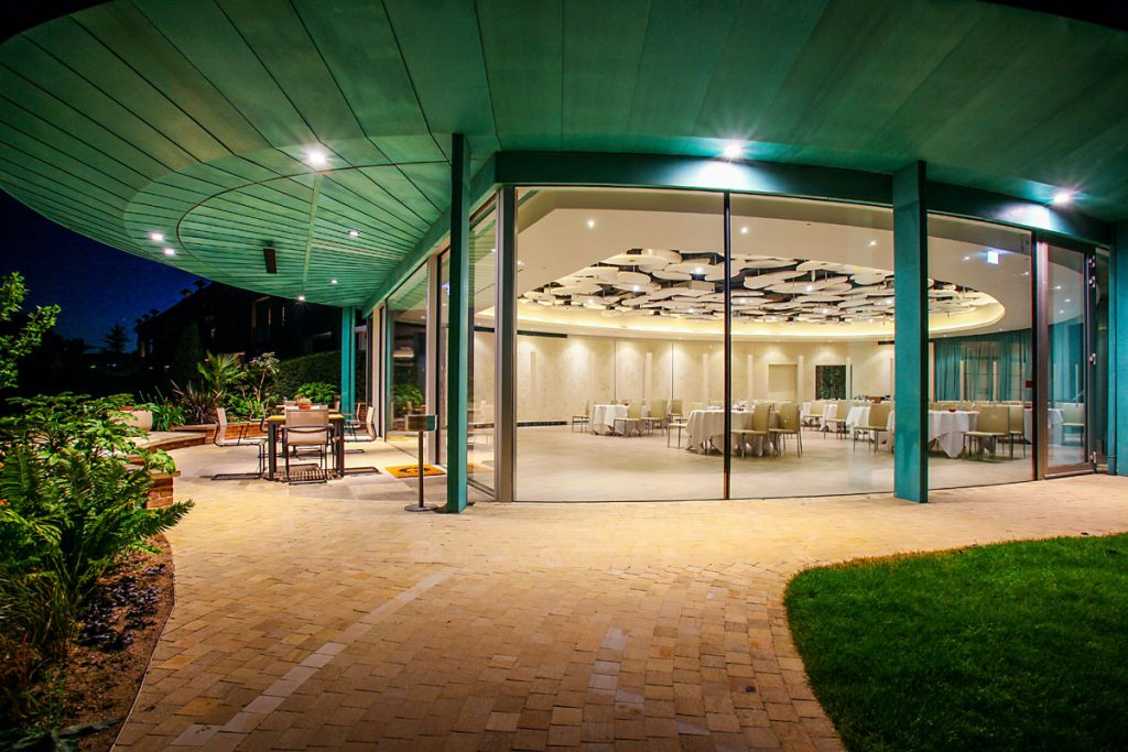 Copper Cladding at the Grove Hotel: The Cedars at Night