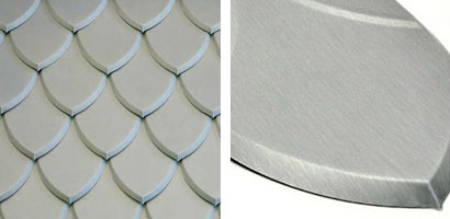 Pointed fish scale tile