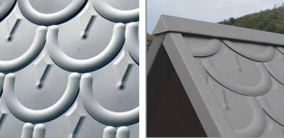 Rounded fish scale tile