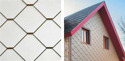 Square tile zinc shingles