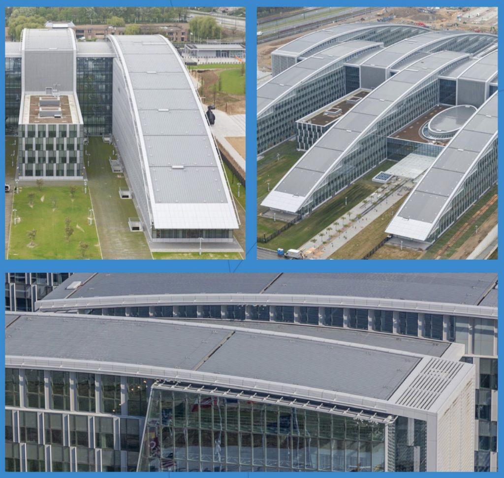 nato headquarters zinc roof - Images via Nedzink