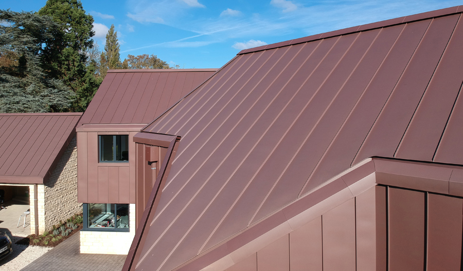 Red Zinc Clad House In Bedfordshire Case Study Details