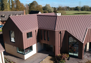 Zinc clad demonstration house in Bedfordshire