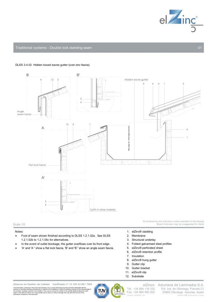 Hidden-Eaves-Box-Gutter-over-zinc-fascia-elZinc-DLSS-3.4.02-Eng