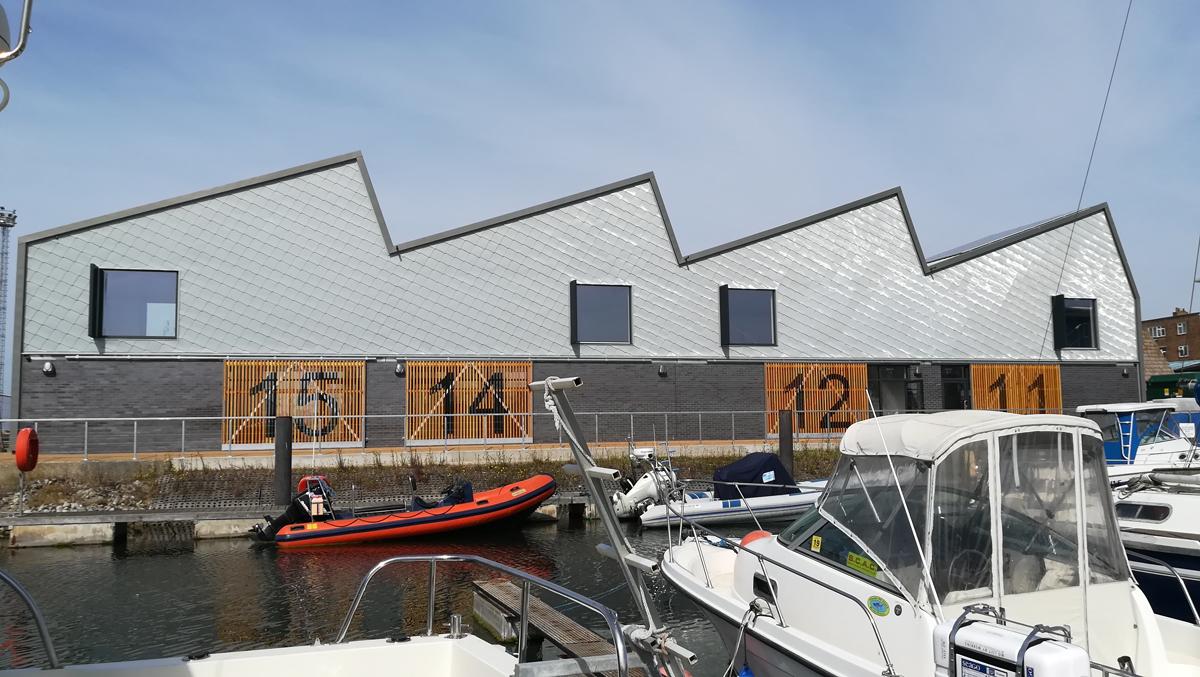 Lady Bee Enterprise Centre - Zinc Shingles East Elevation