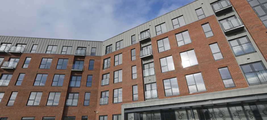 Zinc Cladding at Foundry Wharf Extra Care St Helens