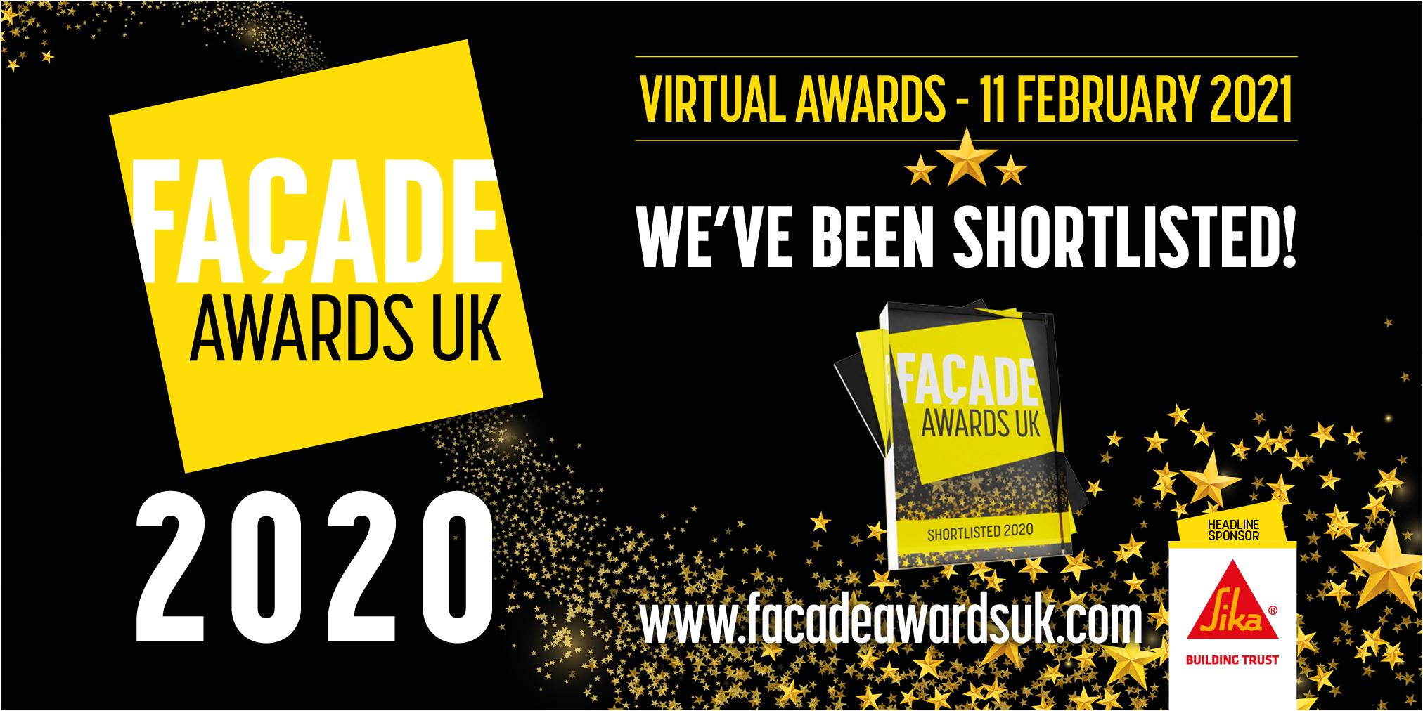 Facade Awards Banner - We've been Shortlisted!