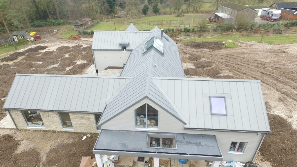 Warm Roof Construction - Zinc roof with vapour control layer