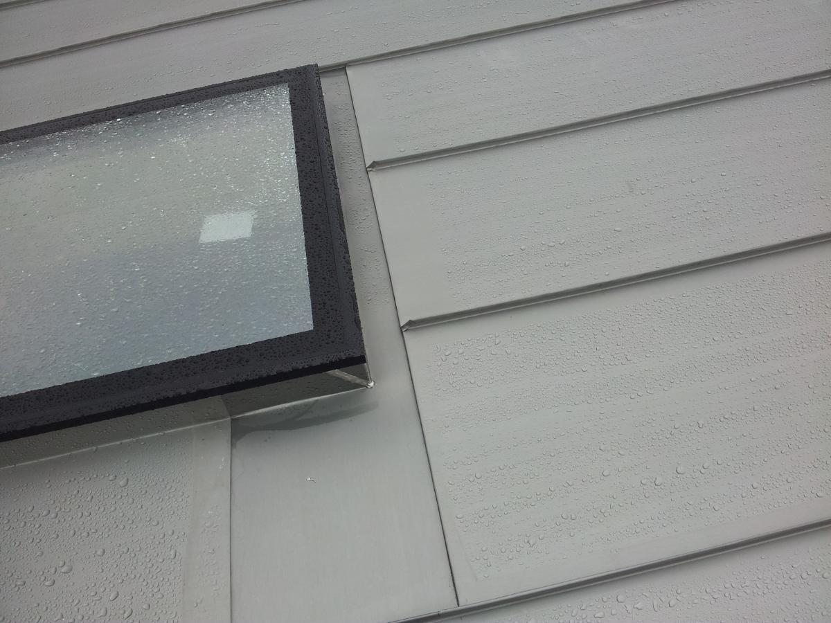 Rooflights in Zinc Roofing - Back Gutter