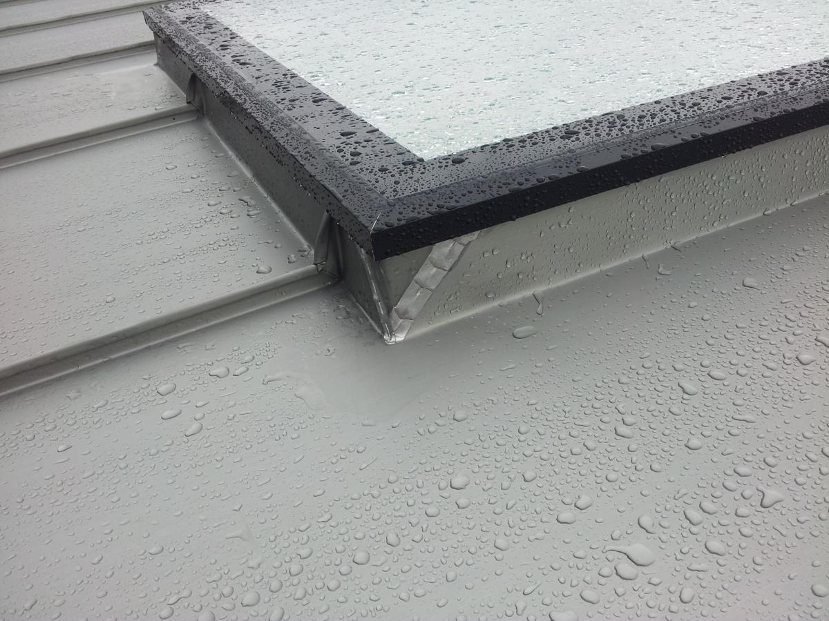 Rooflights in Zinc Roofing - Upstand Height