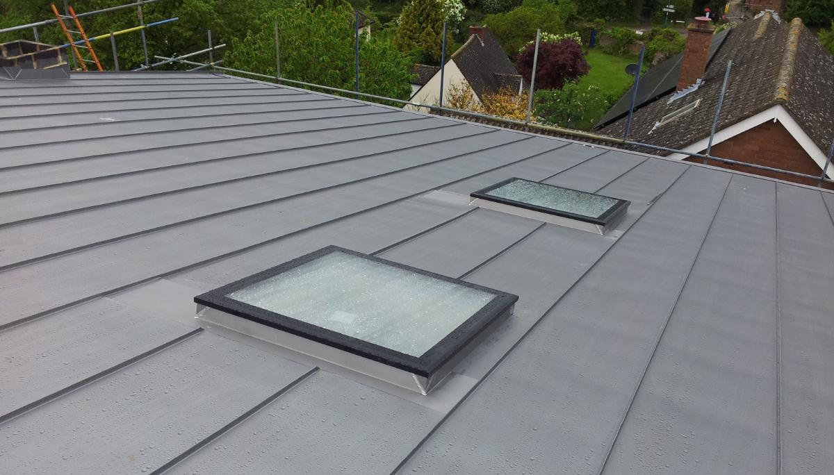 Rooflights in Zinc Roofing